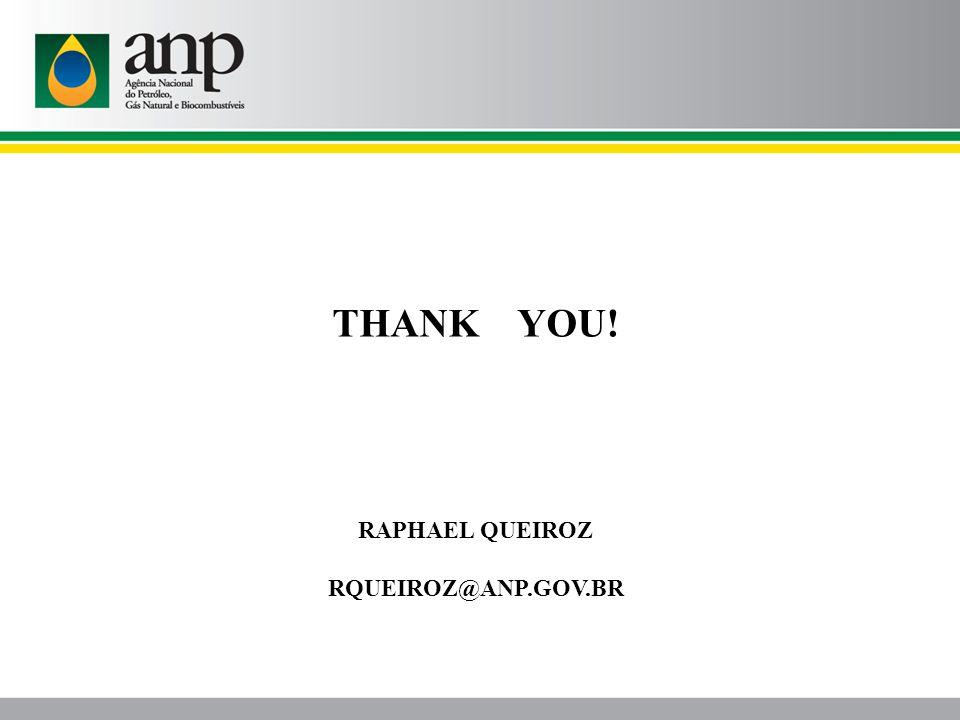 THANK YOU! RAPHAEL QUEIROZ RQUEIROZ@ANP.GOV.BR