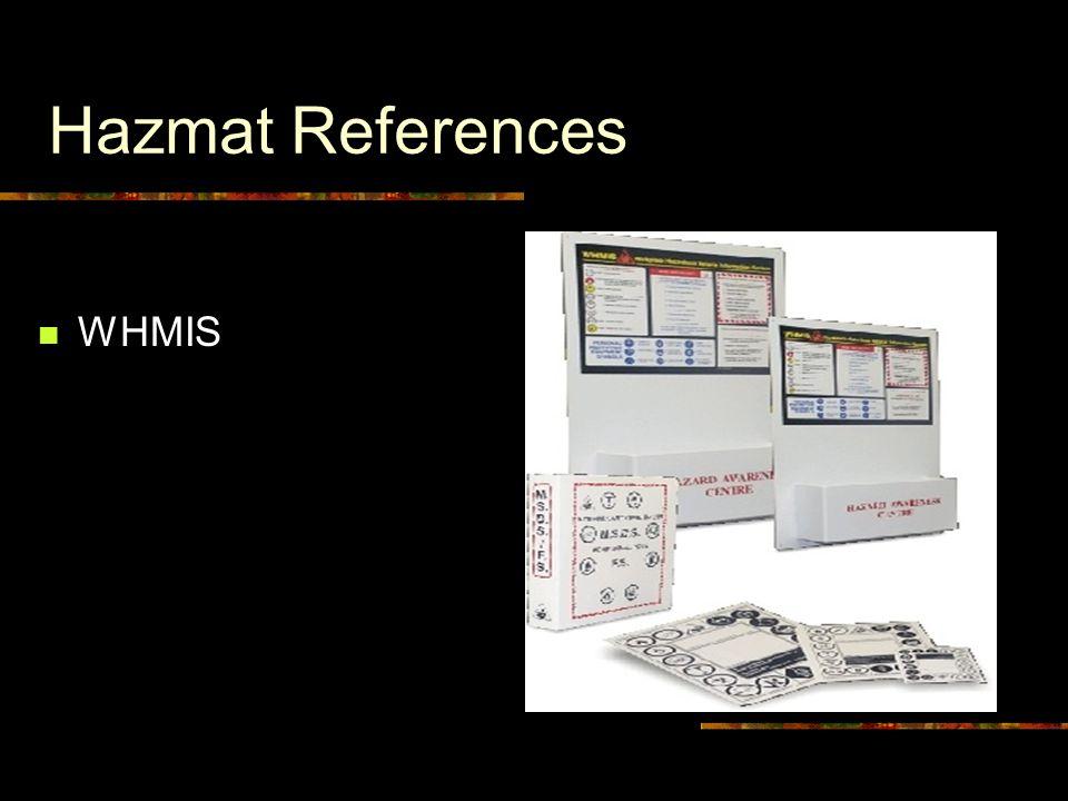 Hazmat References WHMIS