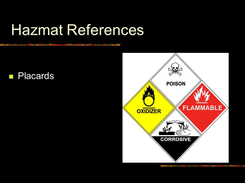 Hazmat References Placards