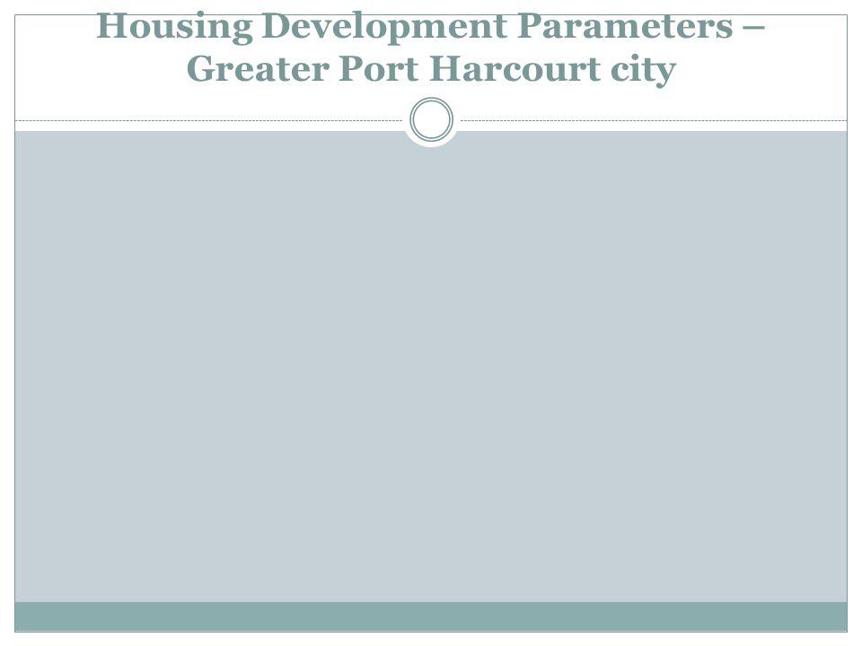 Housing Development Parameters – Greater Port Harcourt city