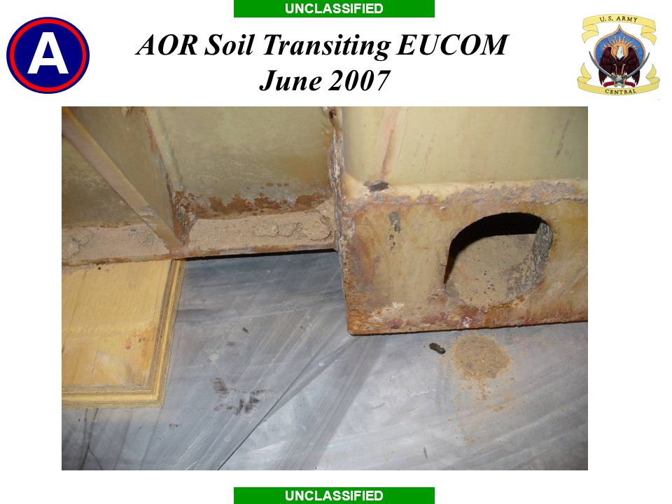 UNCLASSIFIED AOR Soil Transiting EUCOM June 2007