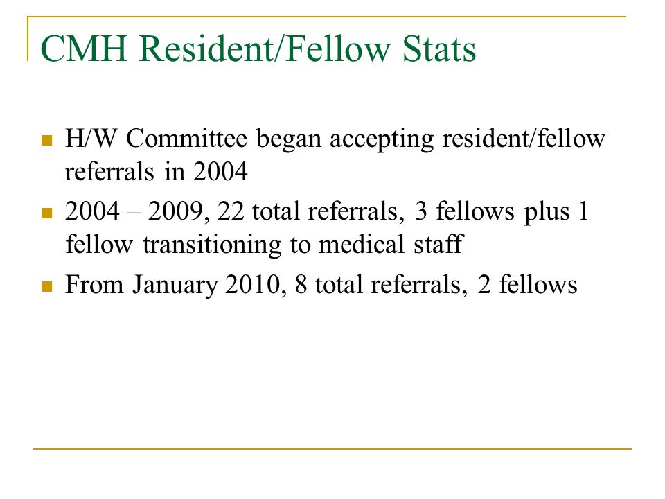 Case #2 1st year resident/fellow Clinically strong, attending evaluations good until PICU rotation Long-standing issues of biological depression Not currently medicated Increased tearfulness, constant feeling of being overwhelmed Extended family stressors Fleeting thoughts of suicide – no plan