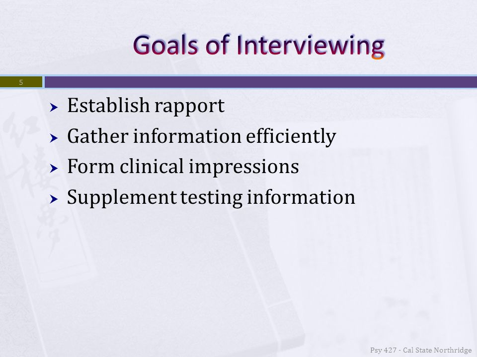  Because interviews involve interactions between people it's natural that both of the participants are affected  In criminal investigations (Akehurst and Vrij, 1999) if the suspect become more active this leads to the interrogator to become more active and vice versa  This can inadvertently lead to the suspect to be viewed more suspiciously 6 Psy 427 - Cal State Northridge