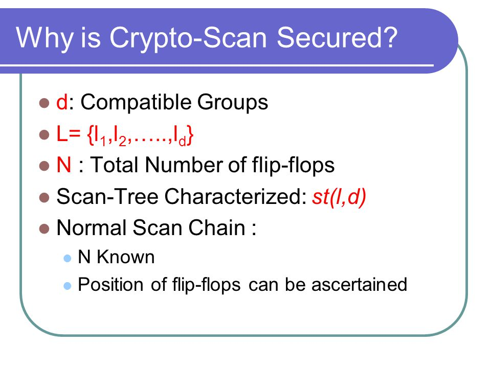 Why is Crypto-Scan Secured.