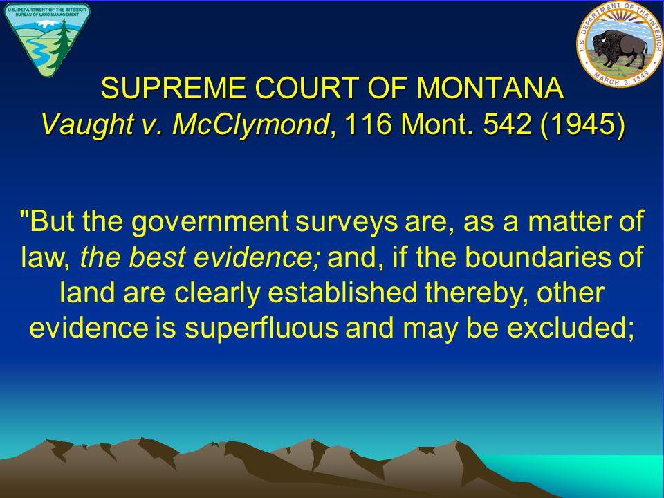 SUPREME COURT OF MONTANA Vaught v. McClymond, 116 Mont. 542 (1945)