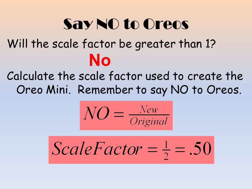 Say NO to Oreos Calculate the diameter in inches of 1 regular Oreo.