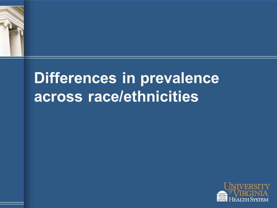 Differences in prevalence across race/ethnicities