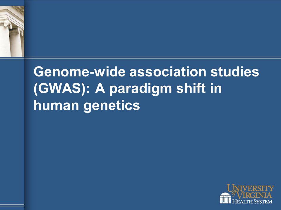 Genome-wide association studies (GWAS): A paradigm shift in human genetics