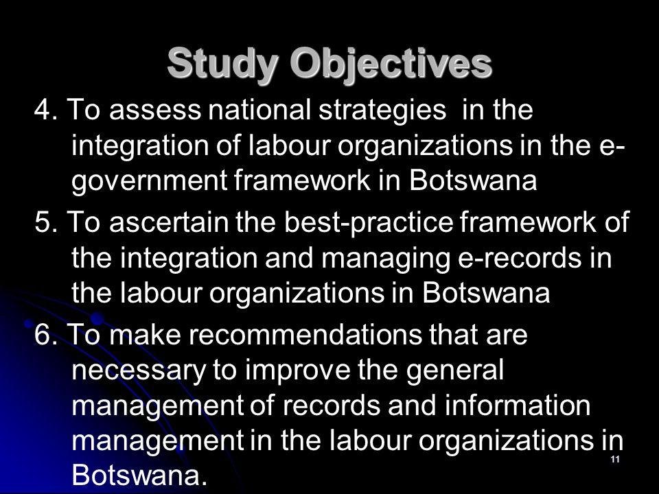 Study Objectives 4.