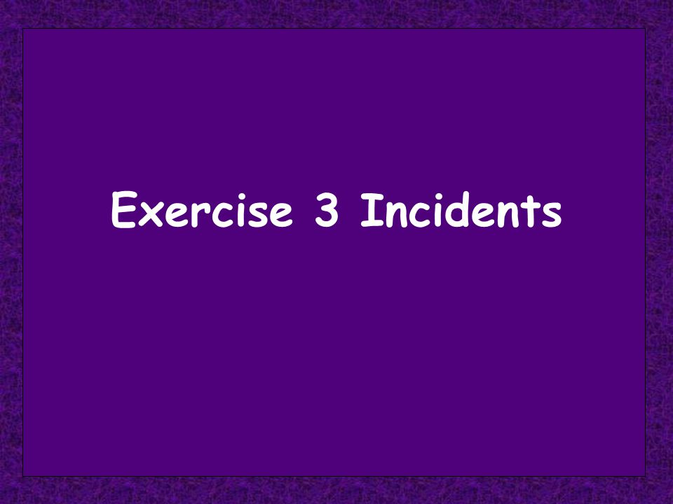 Instructions - 1 For each incident … Individually rank the 5 alternative courses of action from most desirable or appropriate (1) to least (5) Identify the conflict style being used with each possible course of action