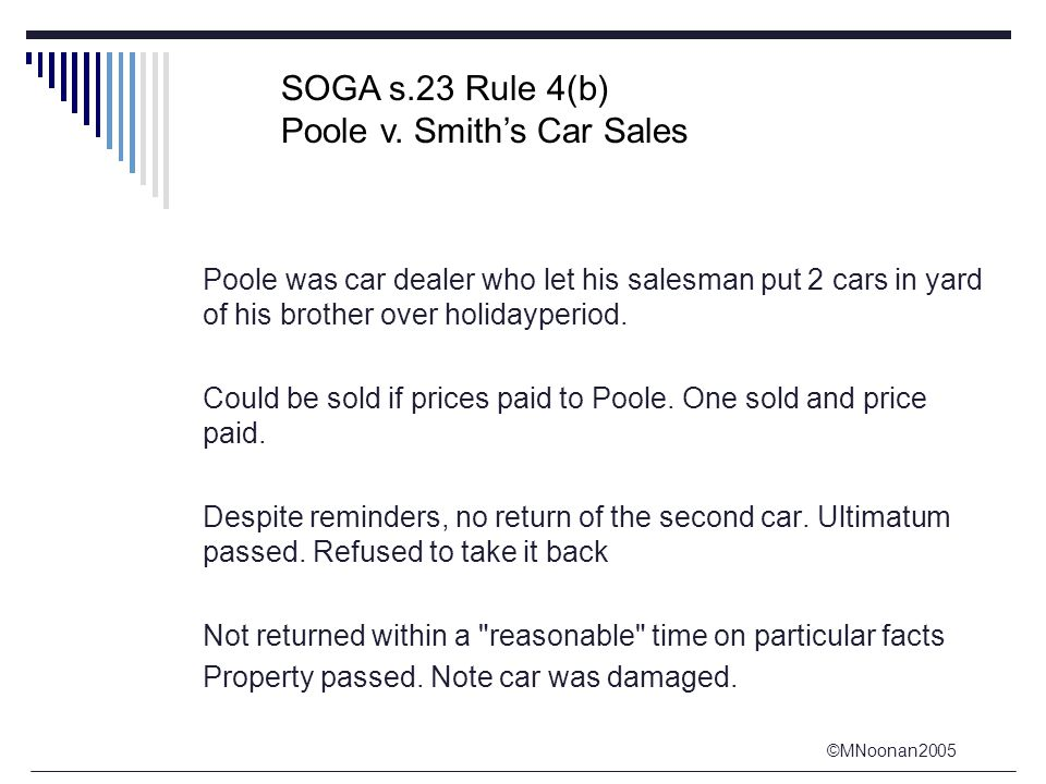©MNoonan2005 Poole was car dealer who let his salesman put 2 cars in yard of his brother over holidayperiod.