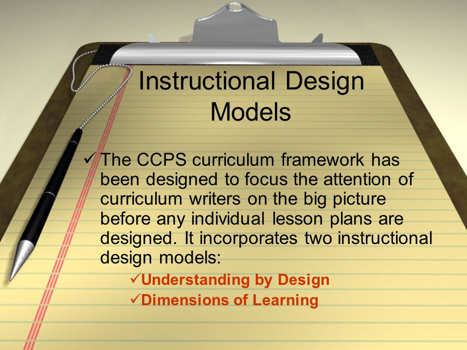 CCPS Curriculum Framework: UBD Having identified the indicator(s) to be addressed, the essential question(s) and the enduring understanding(s), the curriculum template next asks for the assessments that will occur within the unit.
