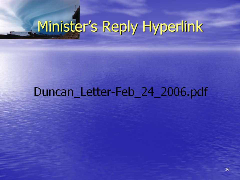 25 RST on Marine Premiums January 12, 2006 The Honourable Dwight Duncan Ministry of Finance, Re: Request for an Interpretation Letter as to the application of the Retail Sales Tax Act to Marine Insurance Premiums Dear Minister: …….In November of this year, our member, xxxxxx xxxx xxxxx, requested a Policy Ruling on the taxability of marine insurance premiums under the Ontario Retail Sales Tax Act.