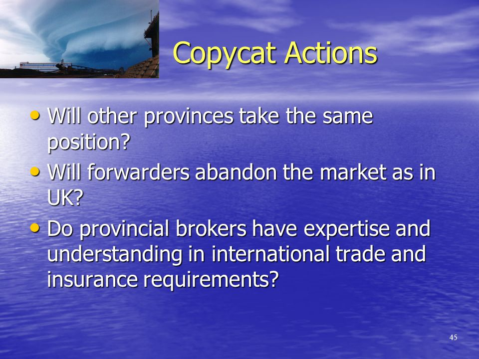 44 Alberta's attitude: Please confirm that CIFFA will be advising its members to comply with s.