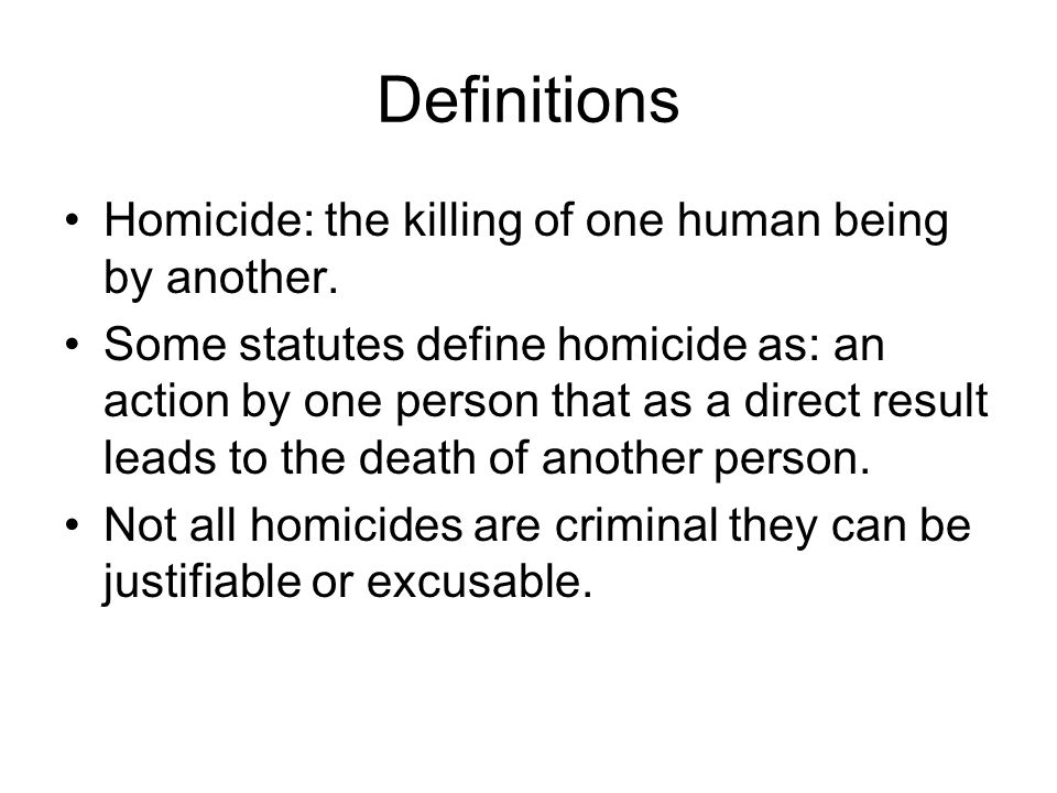 Justifiable Homicide This is the intentional but lawful killing of another.