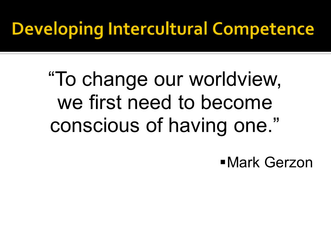 """""""To change our worldview, we first need to become conscious of having one.""""  Mark Gerzon"""