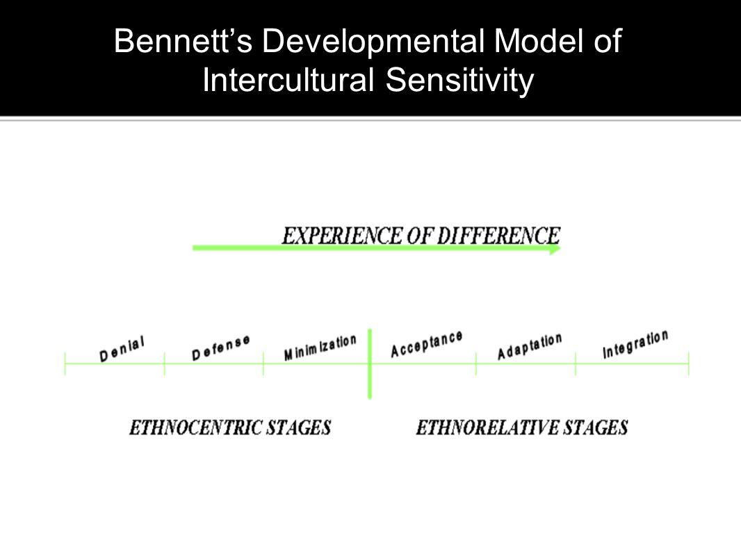 Bennett's Developmental Model of Intercultural Sensitivity