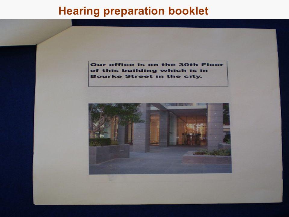 16 Hearing preparation booklet
