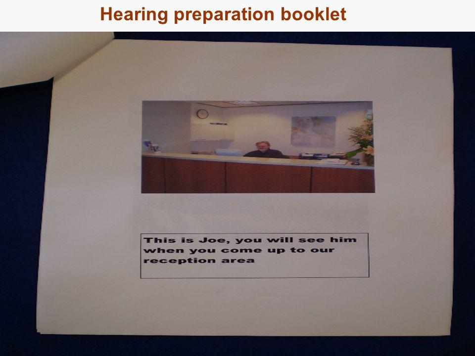 17 Hearing preparation booklet