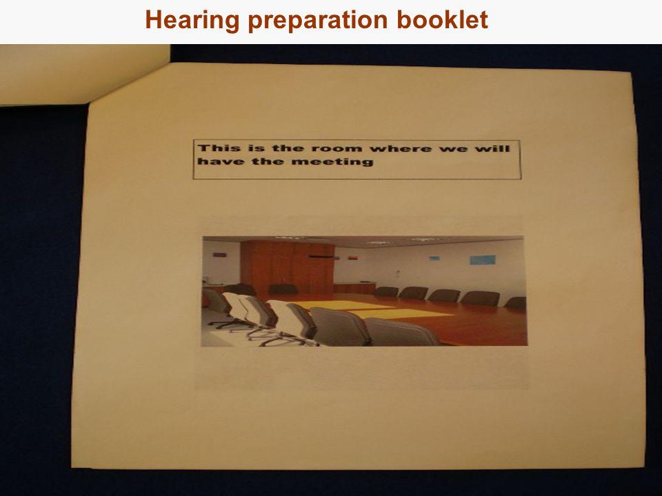 18 Hearing preparation booklet