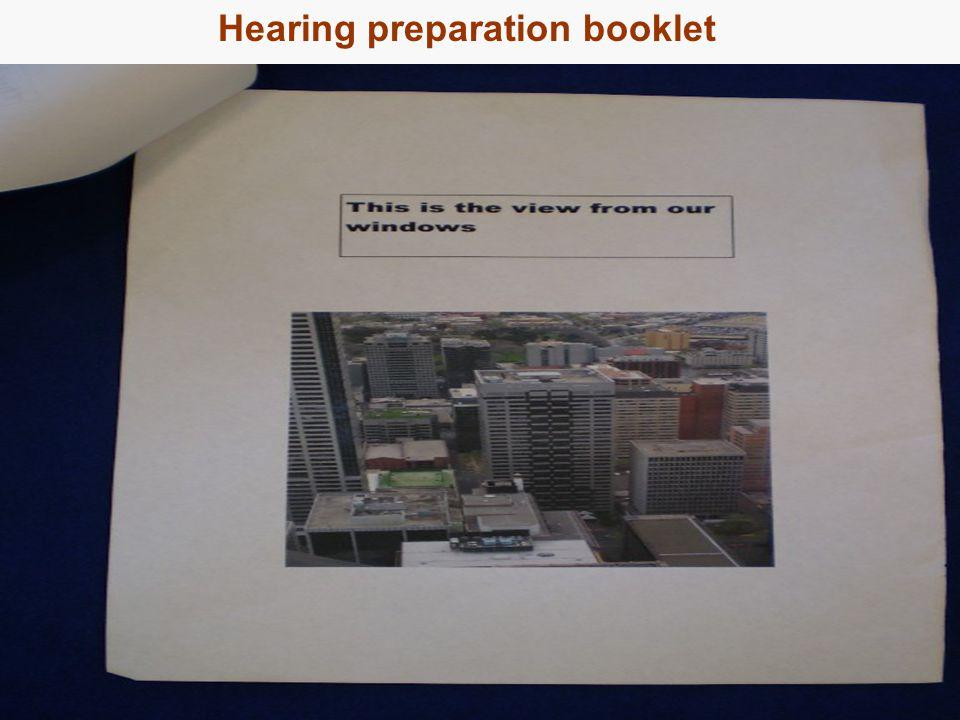 19 Hearing preparation booklet