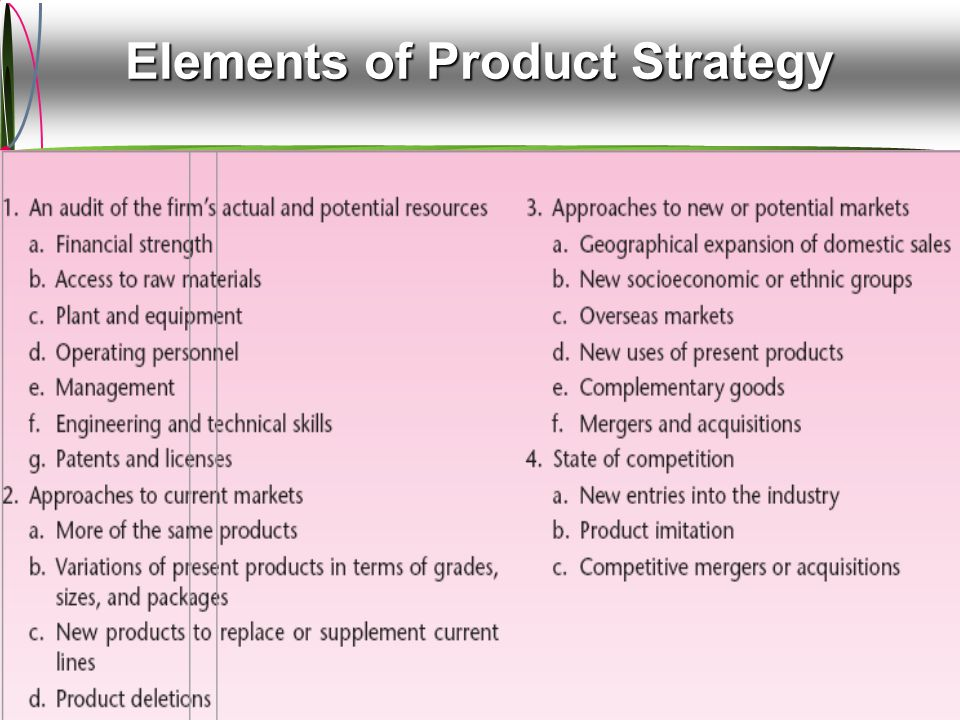 Product Planning  Quality (What does it mean?)  Product's ability to satisfy customer's needs/requirements.
