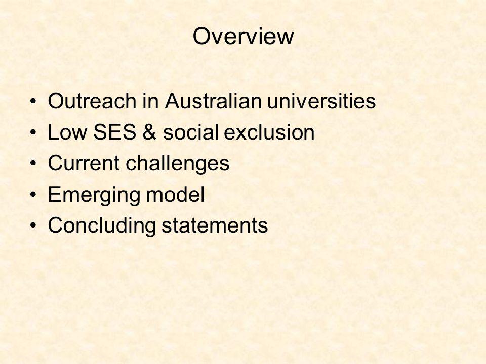Development of outreach in Australian universities – a brief background 1950s – post war.