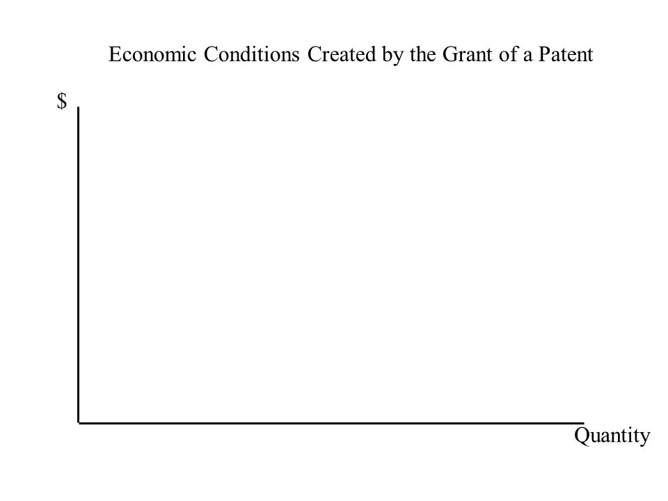 Economic Conditions Created by the Grant of a Patent $ Quantity