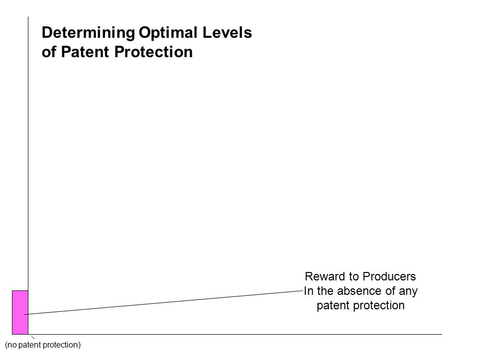 (no patent protection) Determining Optimal Levels of Patent Protection Reward to Producers In the absence of any patent protection