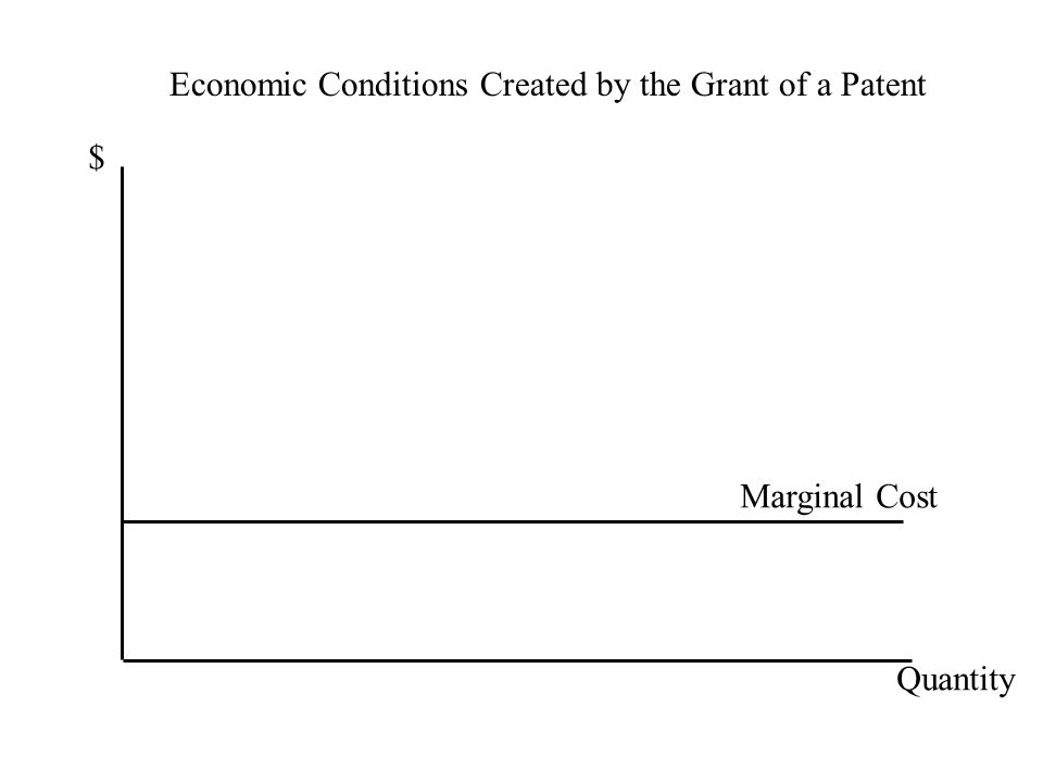 Economic Conditions Created by the Grant of a Patent $ Quantity Marginal Cost