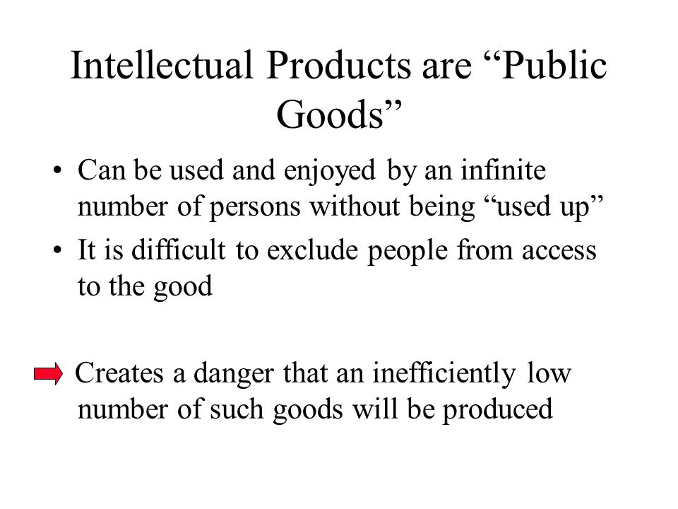 A B Aggregate Reward to Producers caused by forbidding each successive use (no patent protection) Determining Optimal Levels of Patent Protection 58 75 Reward to Producers In the absence of any patent protection