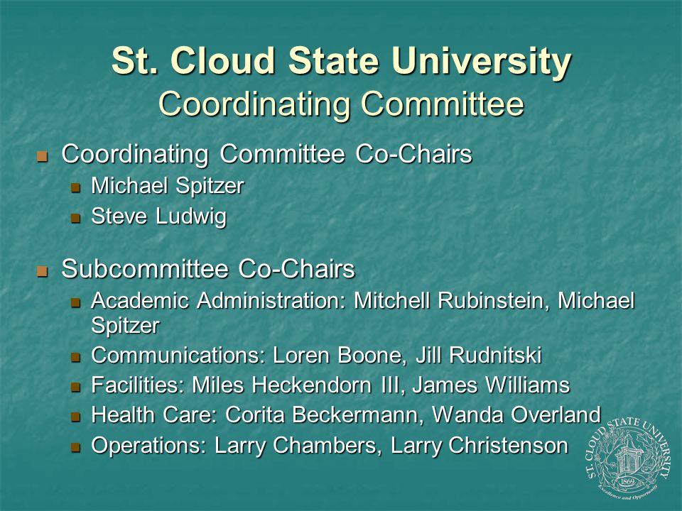 St. Cloud State University Coordinating Committee Coordinating Committee Co-Chairs Coordinating Committee Co-Chairs Michael Spitzer Michael Spitzer St
