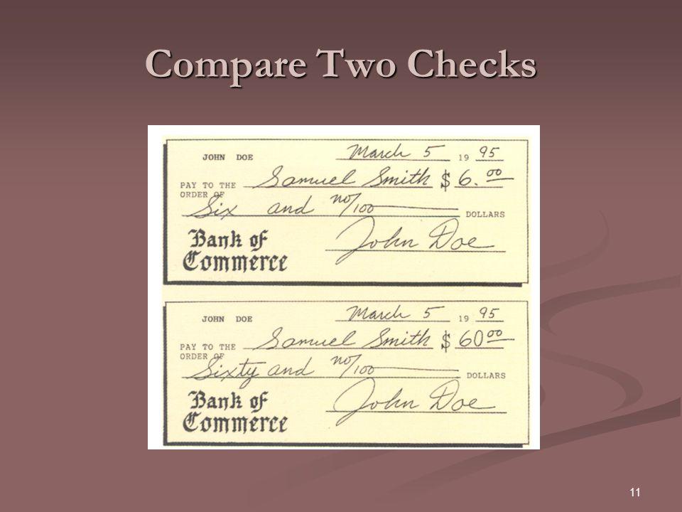 11 Compare Two Checks