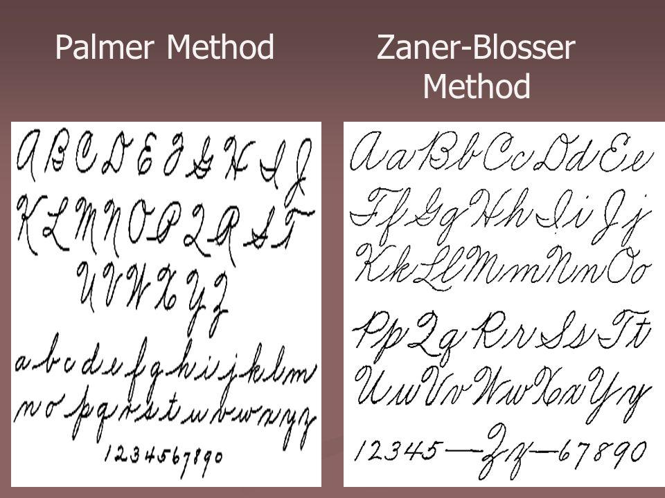 15 Palmer Method Zaner-Blosser Method