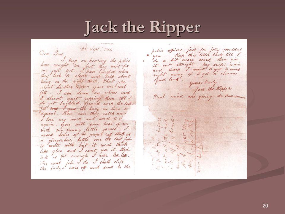 20 Jack the Ripper
