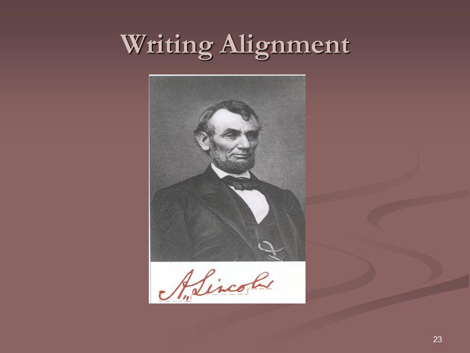 23 Writing Alignment