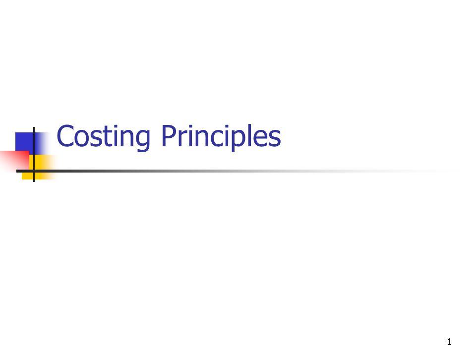 1 Costing Principles