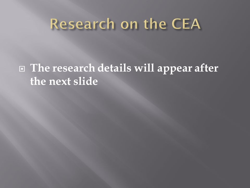  The research details will appear after the next slide