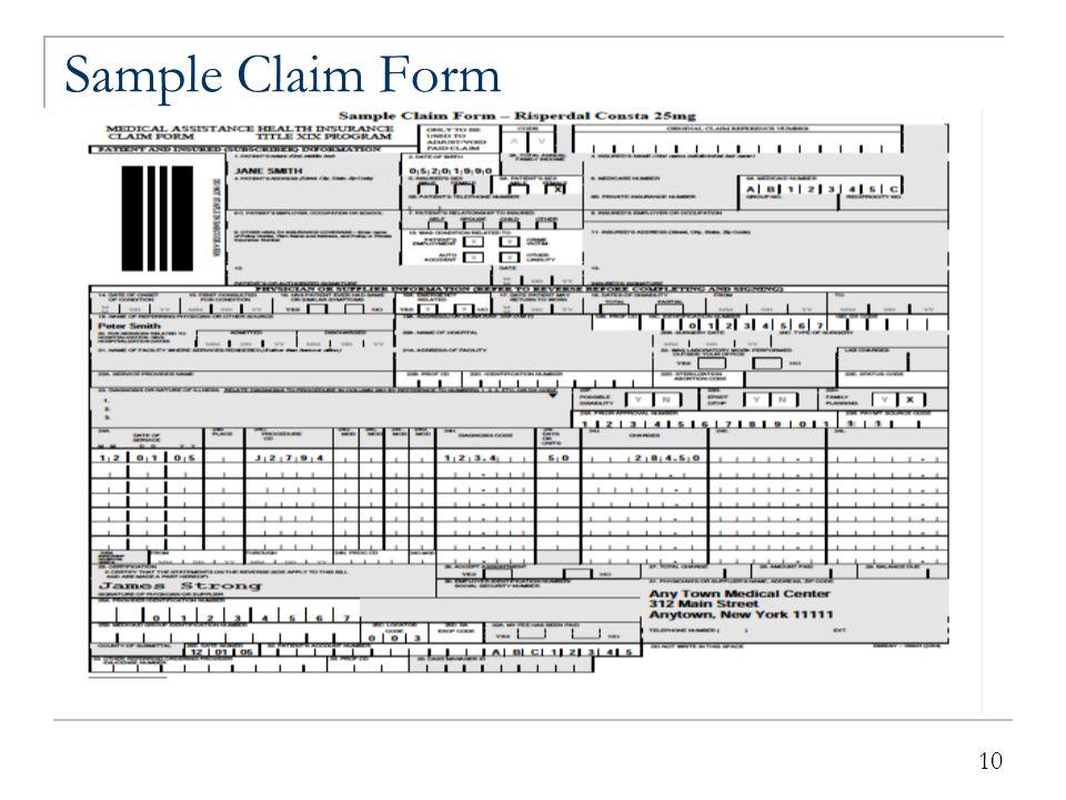 10 Sample Claim Form