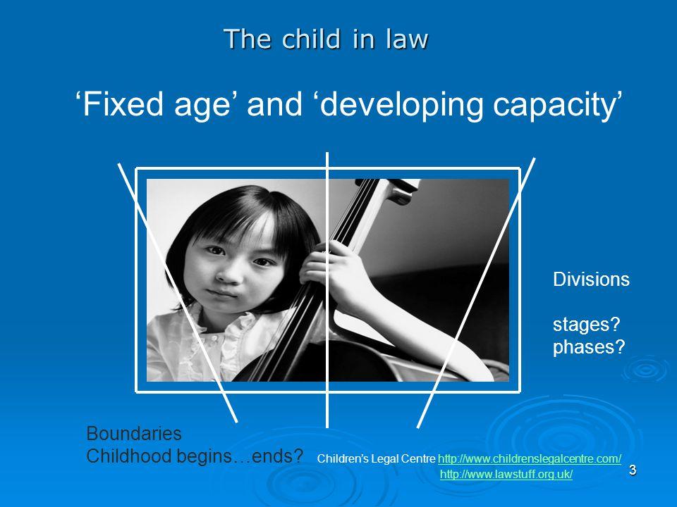 3 Boundaries Childhood begins…ends? Children's Legal Centre http://www.childrenslegalcentre.com/http://www.childrenslegalcentre.com/ http://www.lawstu