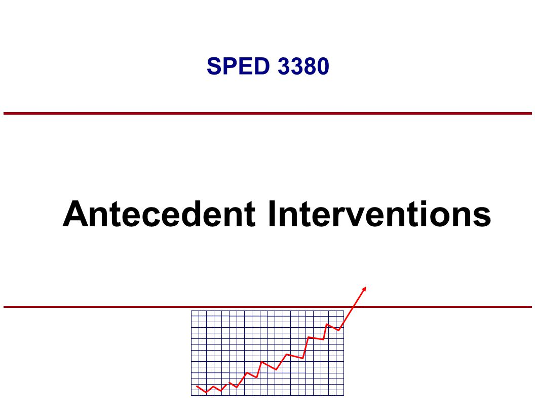 SPED 3380 Antecedent Interventions