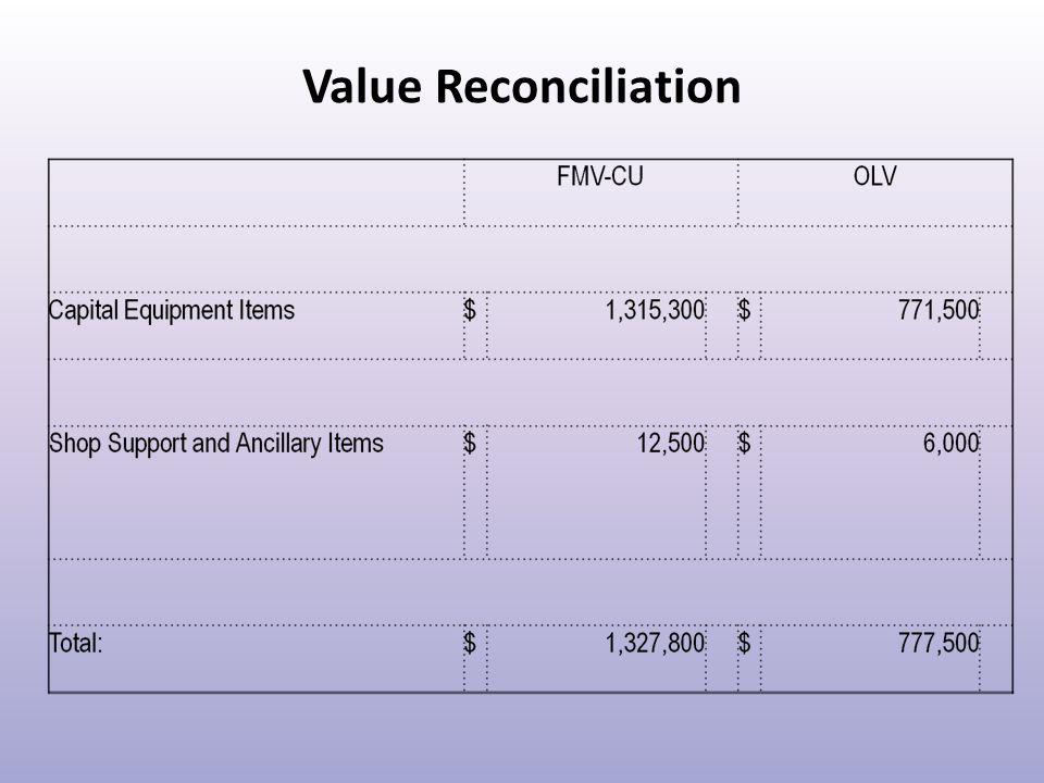 Value Reconciliation