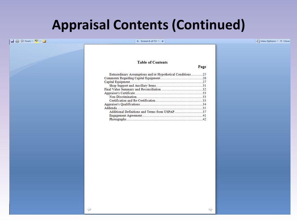 Mass Appraisal Method Trend & Depreciate