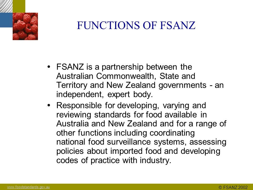 www.foodstandards.gov.au © FSANZ 2002 Toxicology of acrylamide Dr Paul Brent/Dr Glenn Stanley FSANZ MARCH 2003