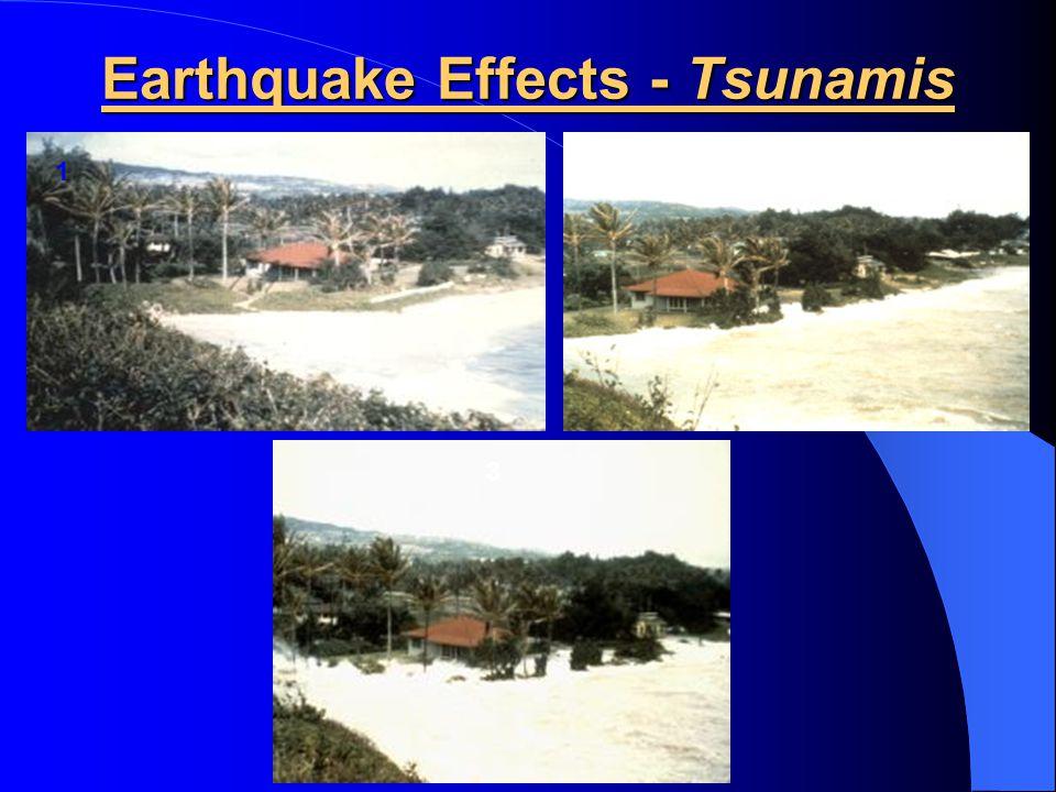 Earthquake Effects - Tsunamis 1 2 3