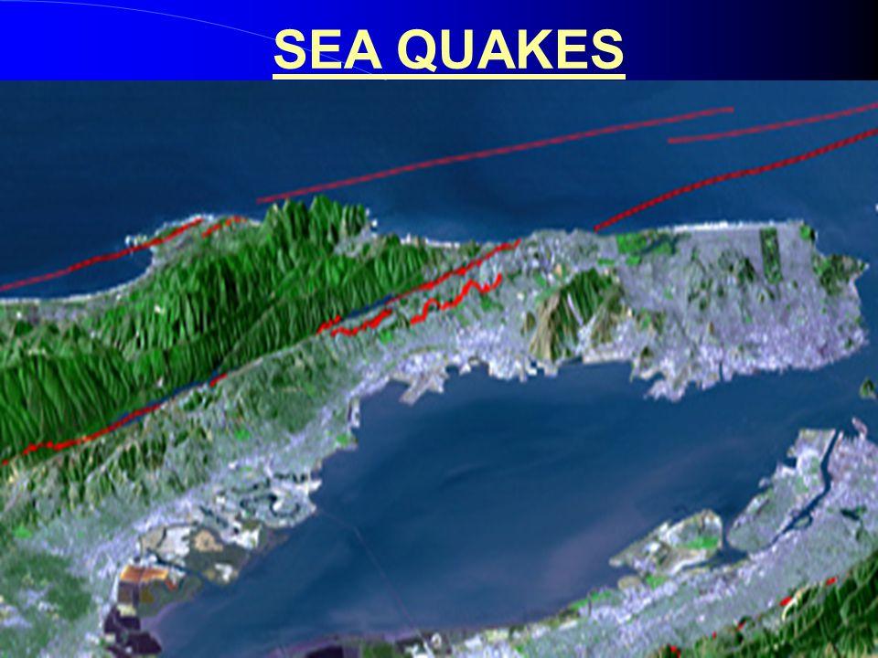 Peninsula with faults SEA QUAKES