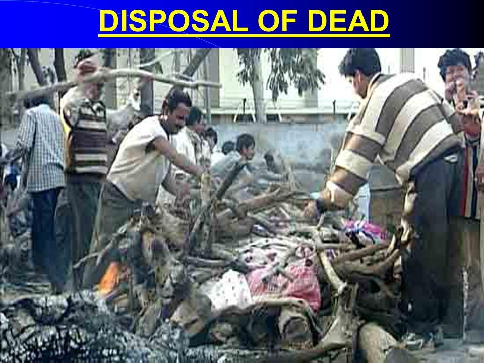 DISPOSAL OF DEAD