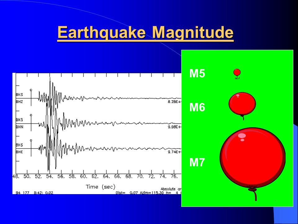 Earthquake Magnitude M5 M6 M7
