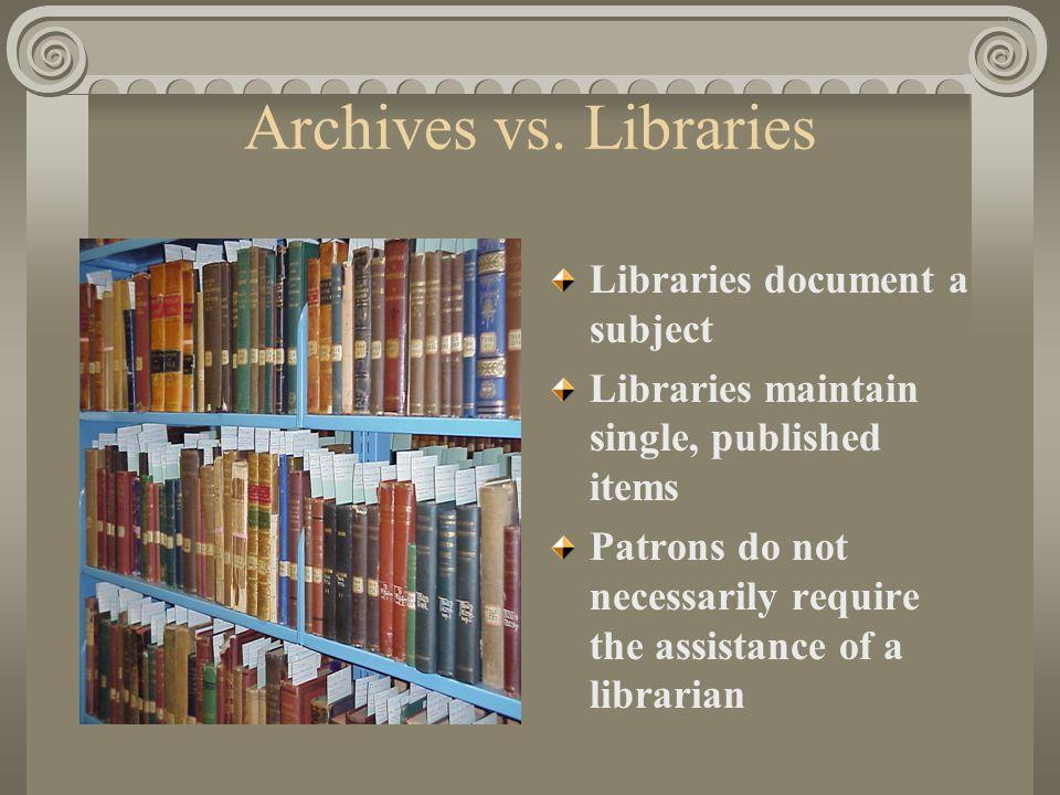 Archives vs.