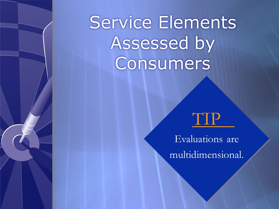 Consumer's Ability to Assess Services